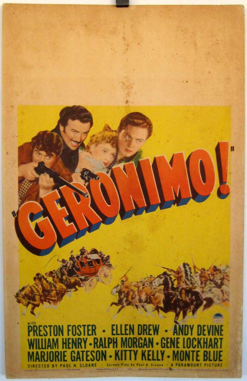 Geronimo 1939 Preston Foster vintage movie poster print