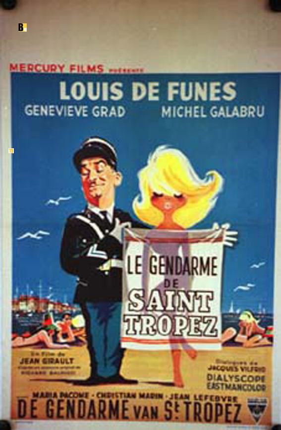 Gendarme De Saint Tropez Le Movie Poster Le Gendarme De