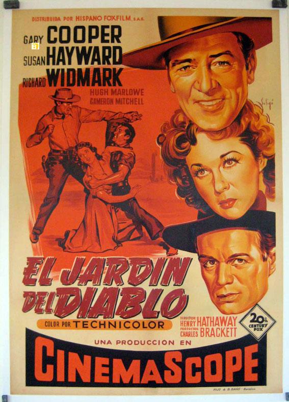 El jardin del diablo movie poster garden of evil for Jardines del diablo