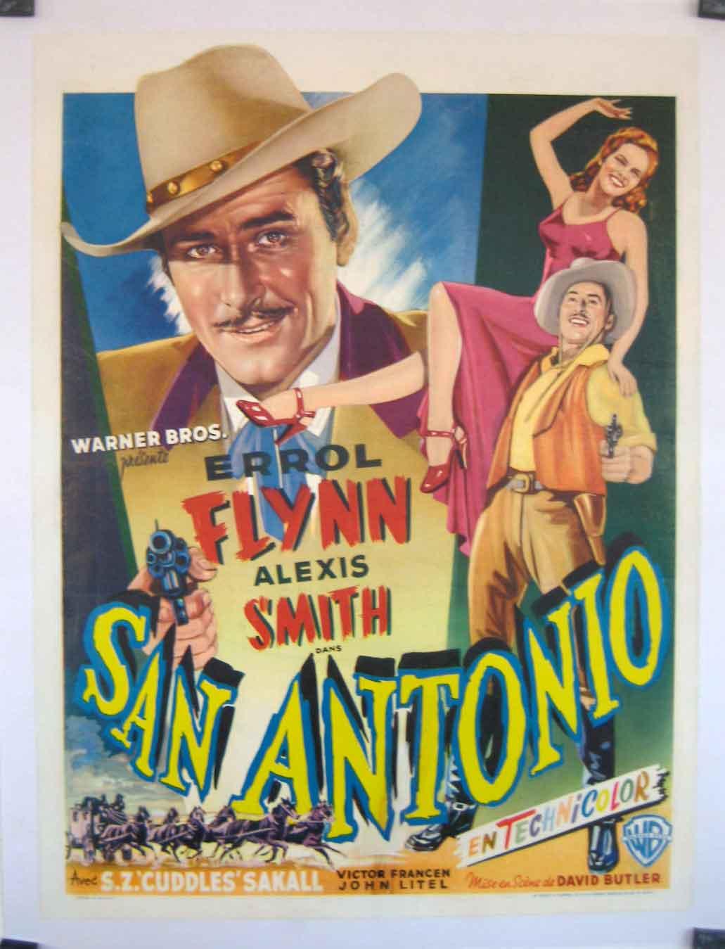 """Aaa San Antonio >> """"SAN ANTONIO"""" MOVIE POSTER - """"SAN ANTONIO"""" MOVIE POSTER"""