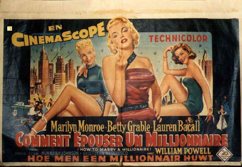 Comment epouser un millionnaire movie poster how to - Comment coller un poster mural ...