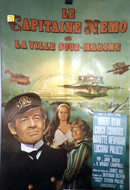 capitan nemo movie poster captain nemo and the underwater city movie poster. Black Bedroom Furniture Sets. Home Design Ideas