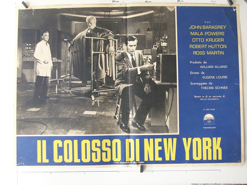 a review of the colossus of new york a movie by eugene lourie The colossus of new york  click to read recent reviews customer reviews join our 130,000 fans  sci-fi specialist eugene lourie.