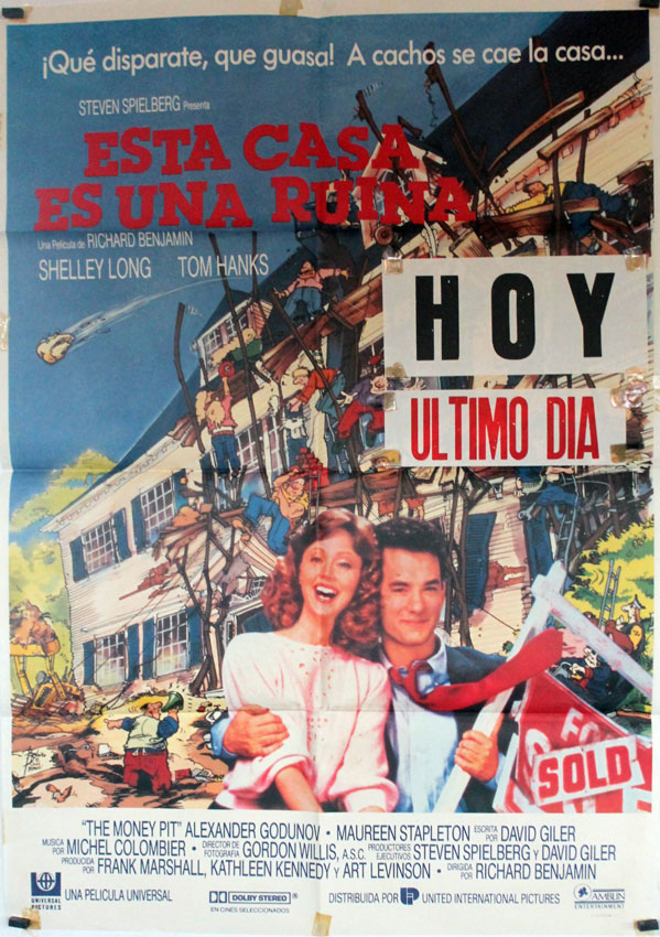 Esta casa es una ruina movie poster the money pit - Esta casa es una ruina ...