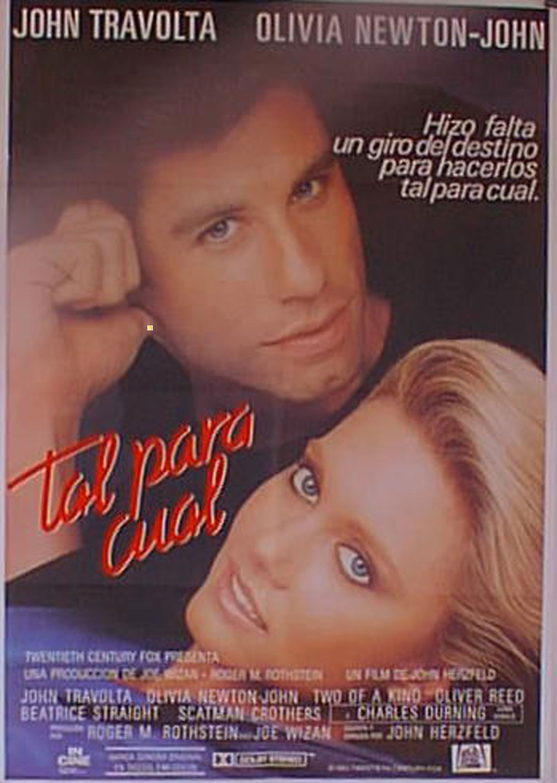 Two of the kind John Travolta vintage movie poster