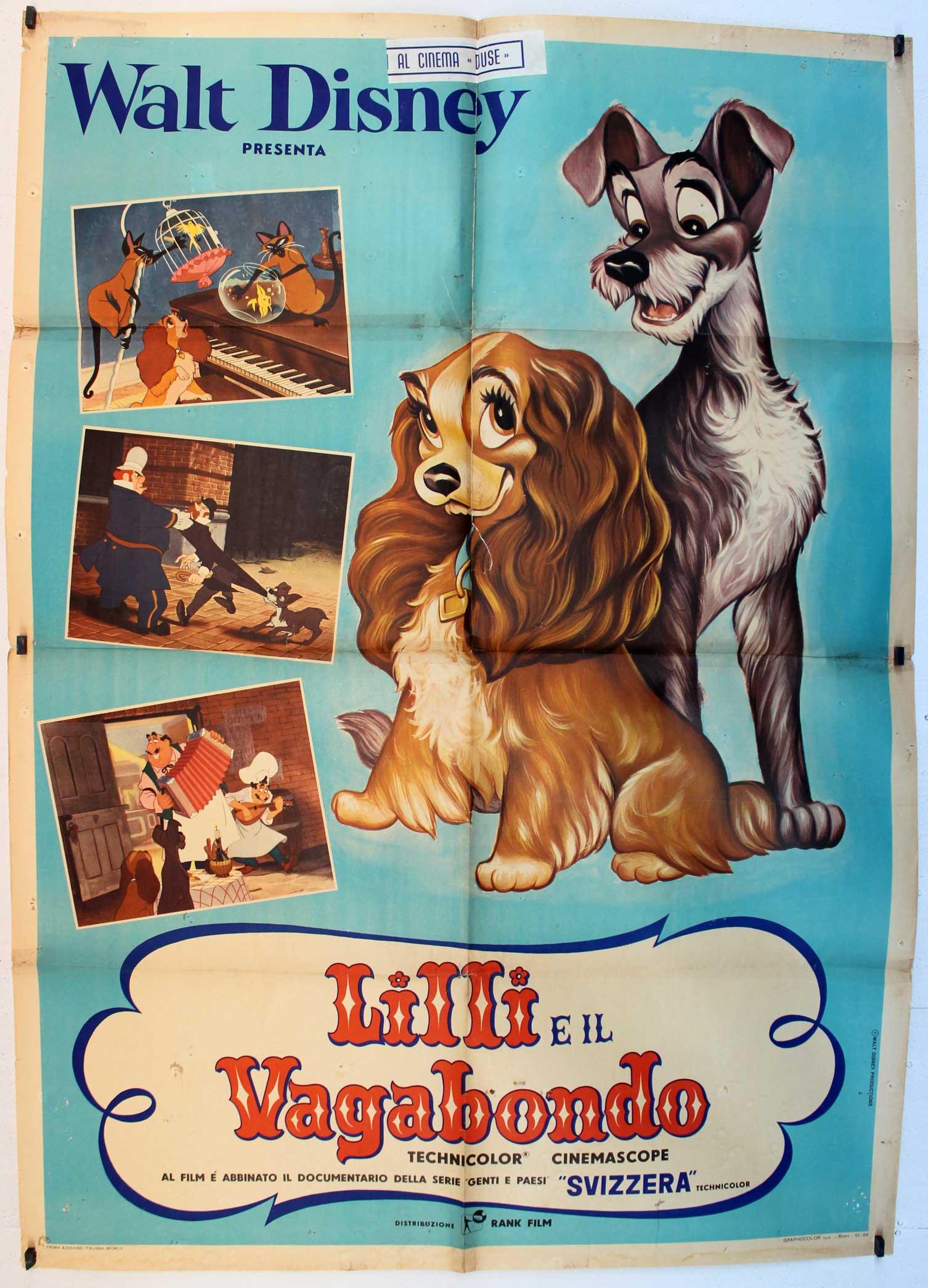 Lilli E Il Vagabondo Movie Poster Lady And The Tramp Movie Poster
