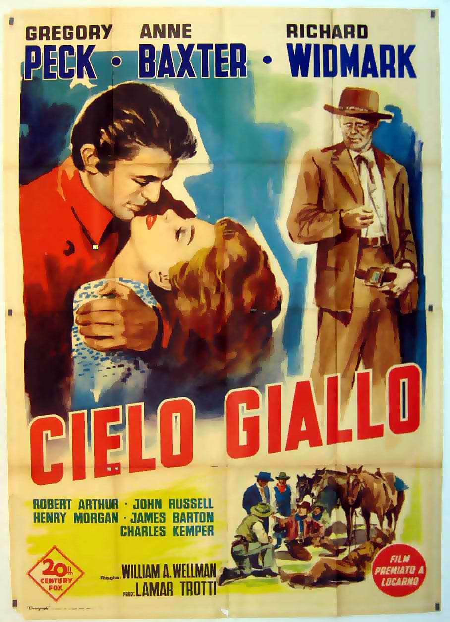 """CIELO GIALLO"" MOVIE POSTER - ""YELLOW SKY"" MOVIE POSTER"