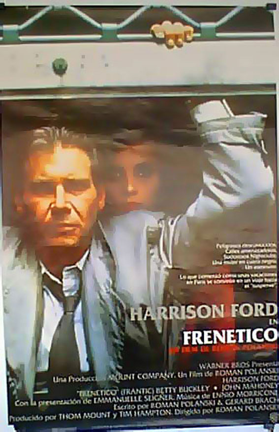 Frenetico Movie Poster Frantic Movie Poster