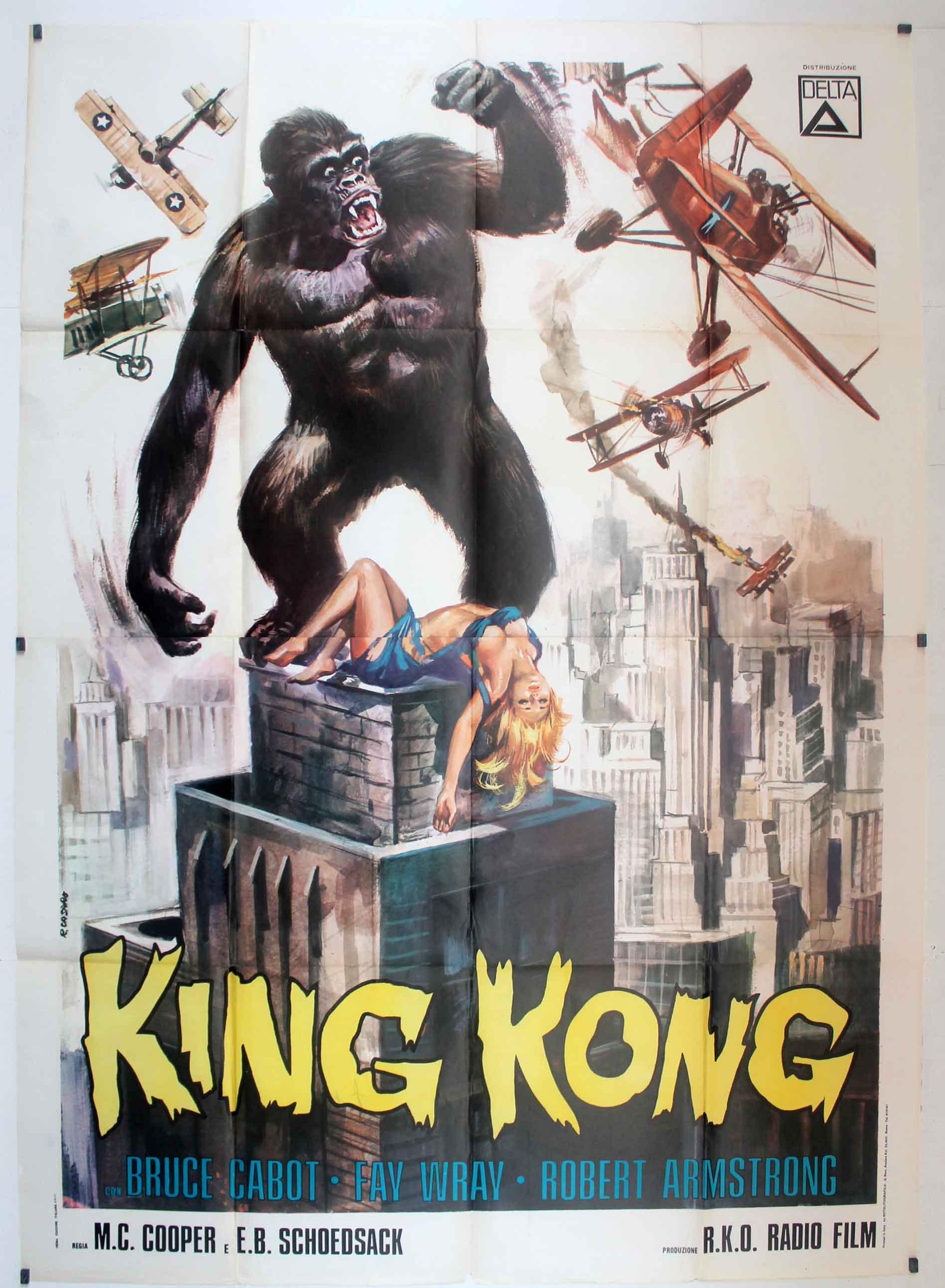 cartel de la pelicula king kong