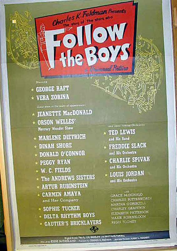 """FOLLOW THE BOYS"" MOVIE POSTER"