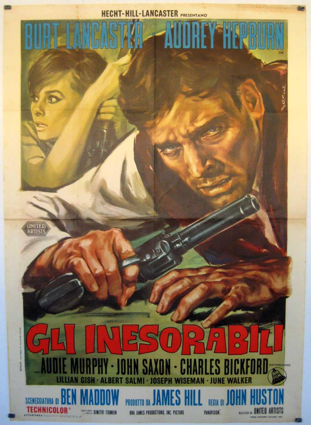 Quot Gli Inesorabili Quot Movie Poster Quot The Unforgiven Quot Movie Poster