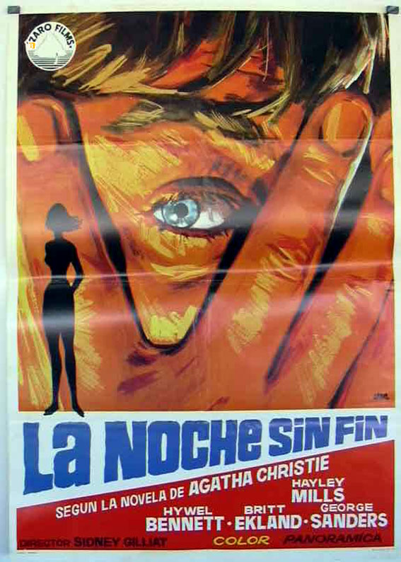la noche sin fin movie poster ednless night mord nach mass movie poster. Black Bedroom Furniture Sets. Home Design Ideas