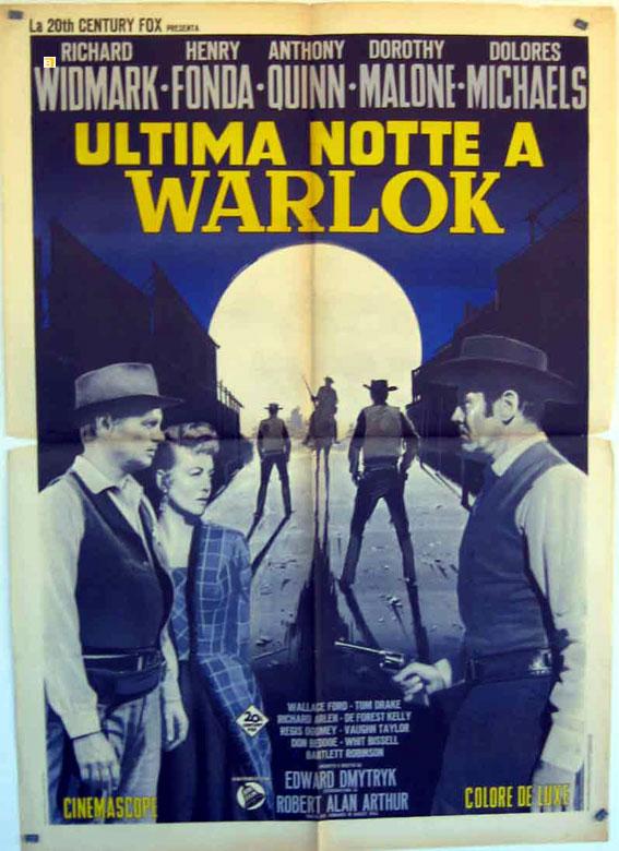 """""""HOMBRE DE LAS PISTOLAS DE ORO, EL"""" MOVIE POSTER - """"WARLOCK"""" MOVIE POSTER"""