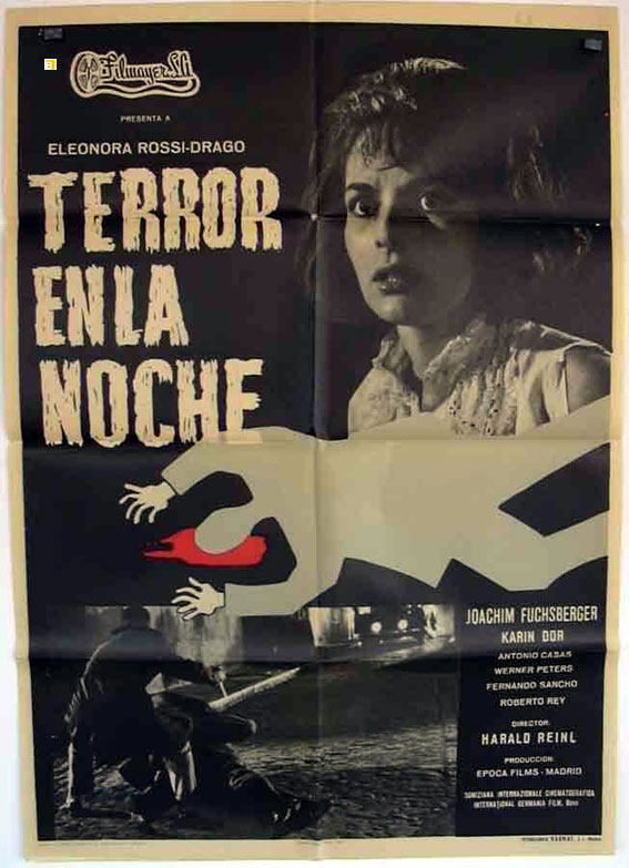 TERROR EN LA NOCHE MOVIE POSTER  DER TEPPICH DES