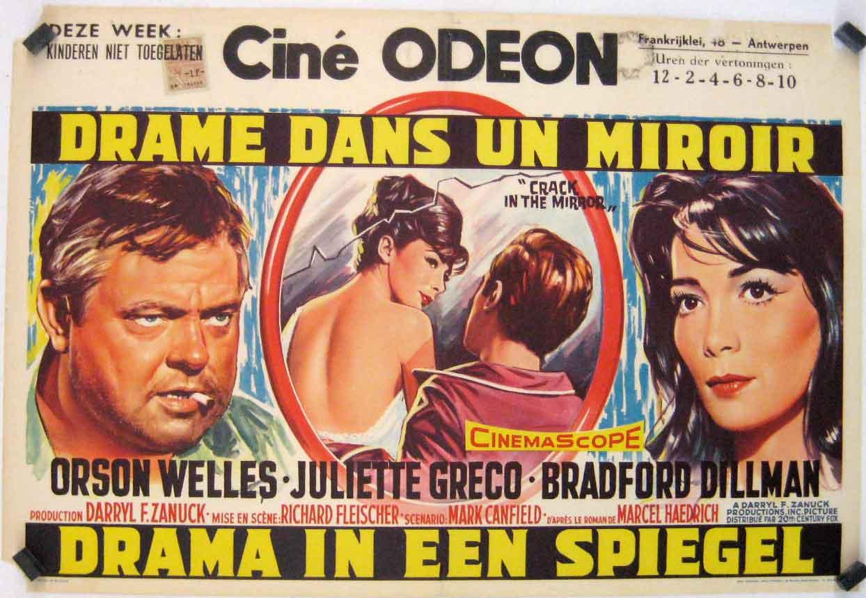 Drame dans un miroir drama in een spiegel movie poster for Drame dans un miroir