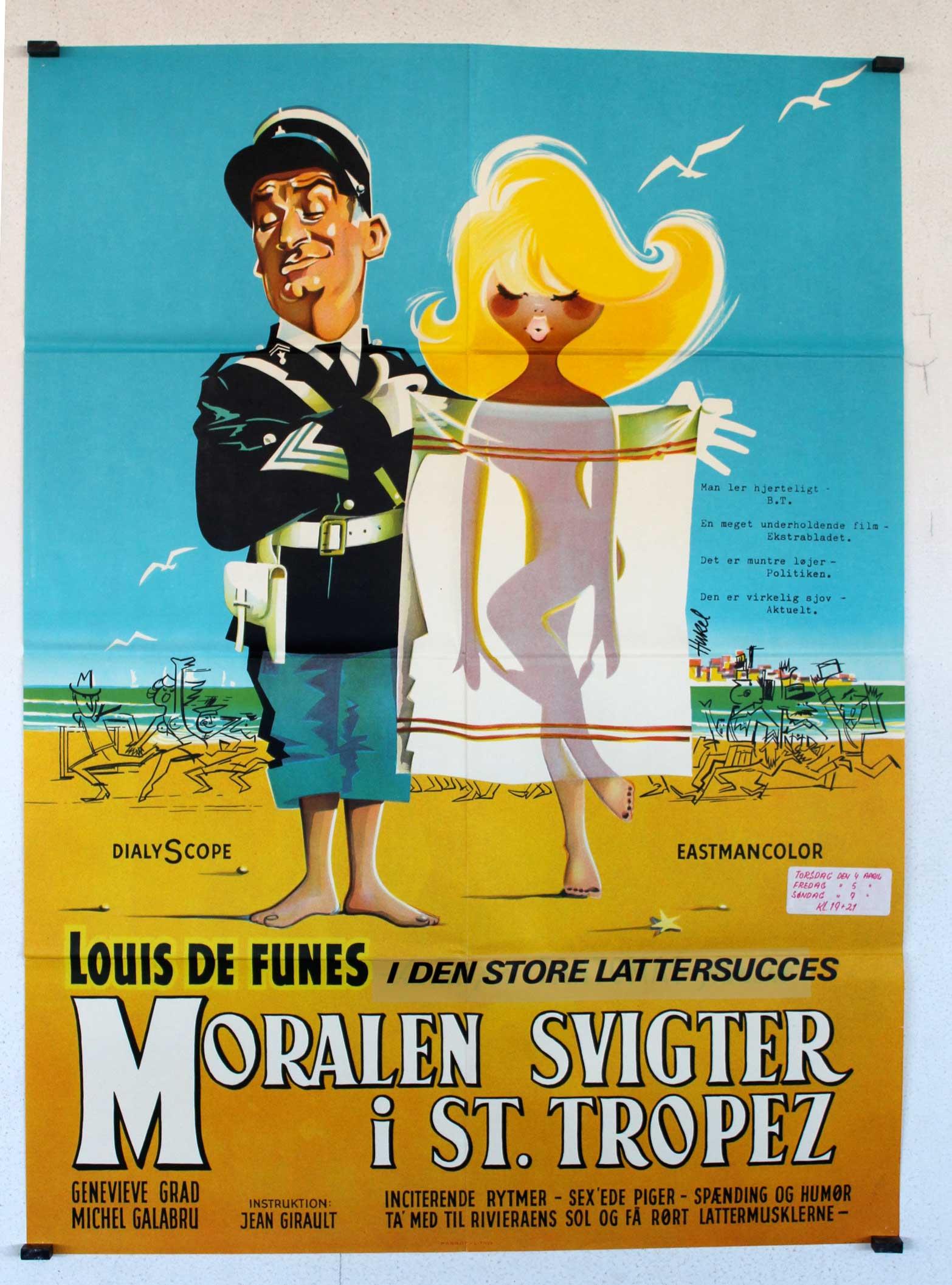 Moralen Svigter I St Tropez Movie Poster Le Gendarme De
