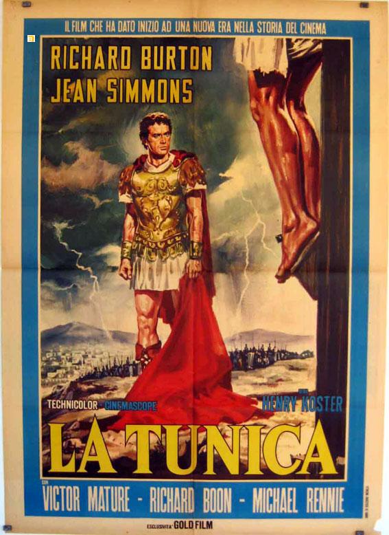 Negli anni '50, la risposta del dinema alla televisione sono stati i grandi Kolossal in CinemaScope come La Tunica.