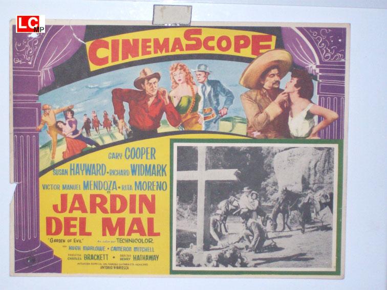 Gary cooper movie poster garden of evil movie poster for El jardin del diablo gary cooper