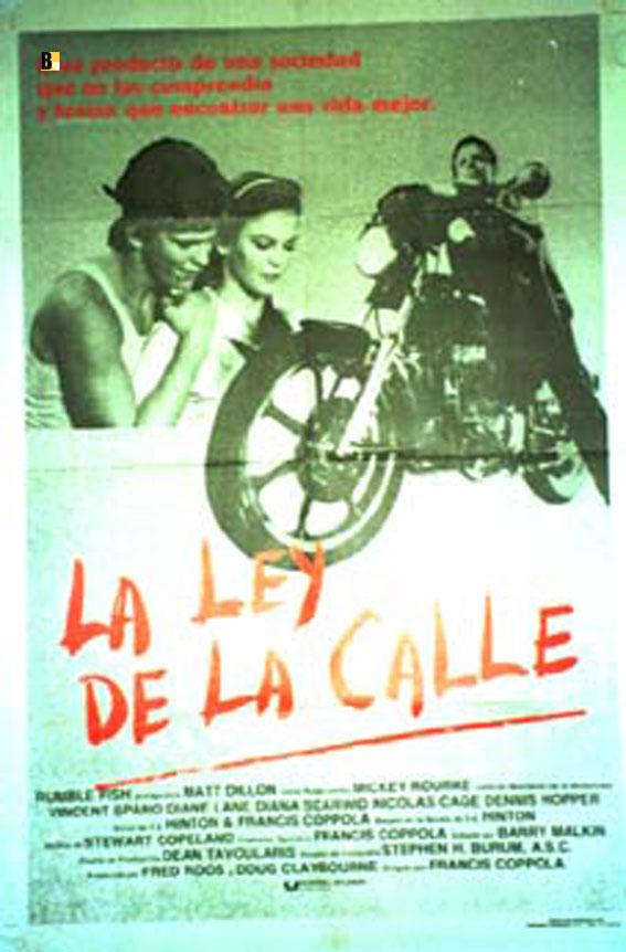 Ley de la calle la movie poster rumble fish movie for Rumble fish summary