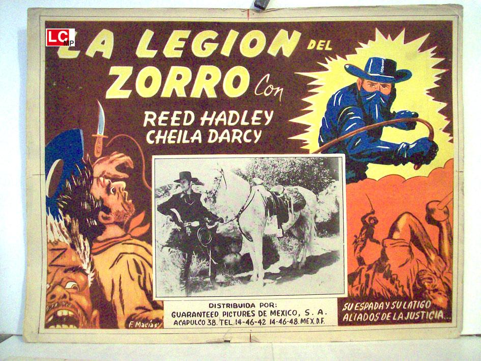 La Legion Del Zorro Movie Poster Zorros Fighting Legion Movie