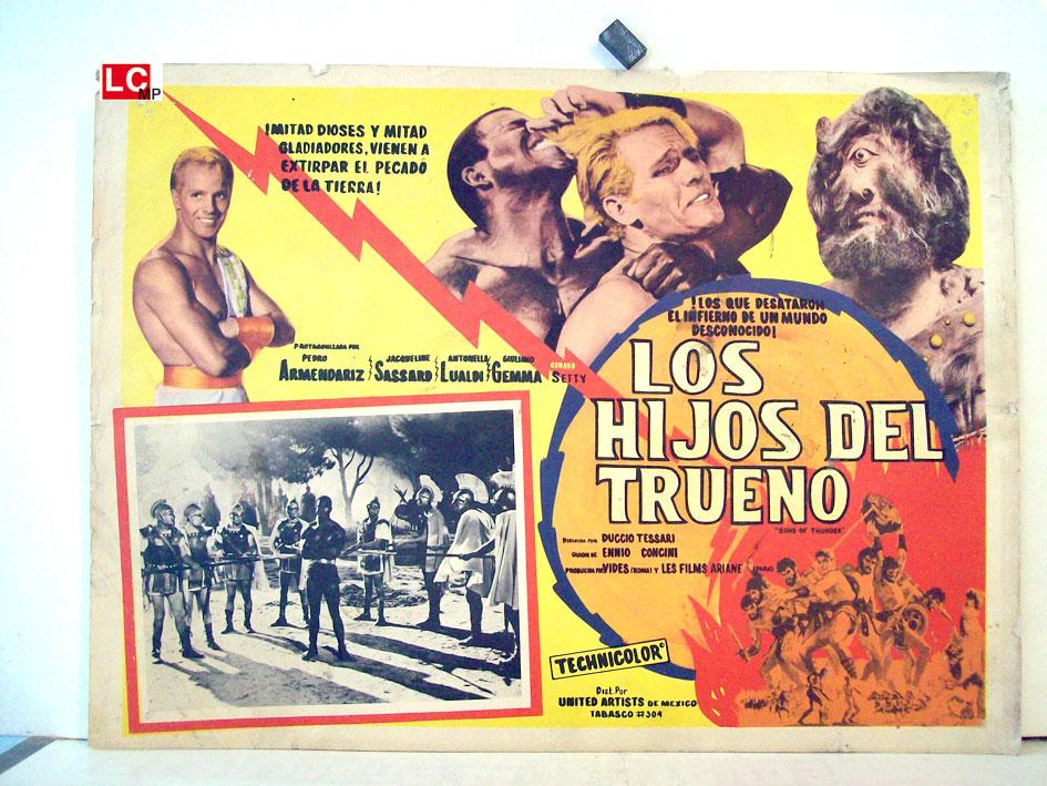 Los Hijos Del Trueno Movie Poster Arrivano I Titani Movie Poster