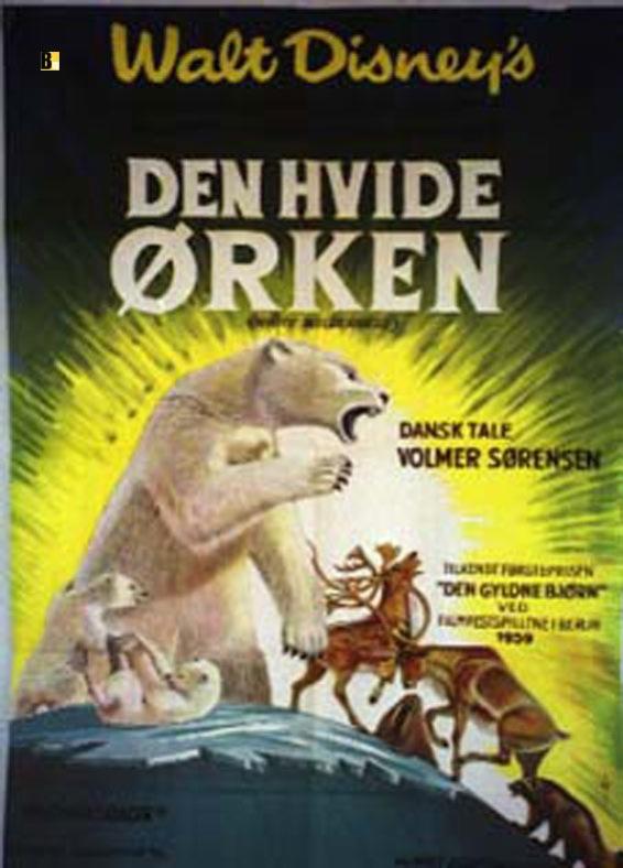 """DEN HVIDE ORKEN"" MOVIE POSTER - ""WHITE WILDERNESS"" MOVIE ... Den Hvide Djaevel"