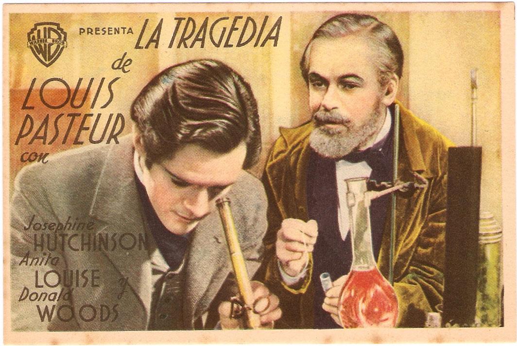 """LA TRAGEDIA DE LOUIS PASTEUR"""" MOVIE POSTER - """"THE STORY OF LOUIS ..."""