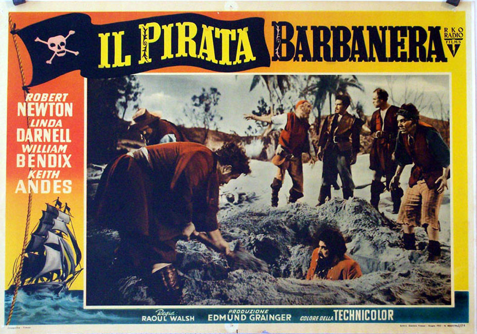 "EL PIRATA BARBA NEGRA"" MOVIE POSTER - ""BLACKBEARD THE PIRATE ..."