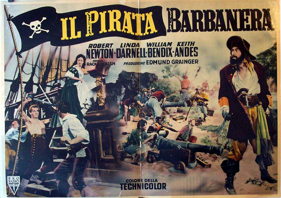 """IL PIRATA BARBANERA"""" MOVIE POSTER - """"BLACKBEARD THE PIRATE"""" MOVIE ..."""